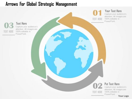 Business Diagram Arrows For Global Strategic Management Presentation Template