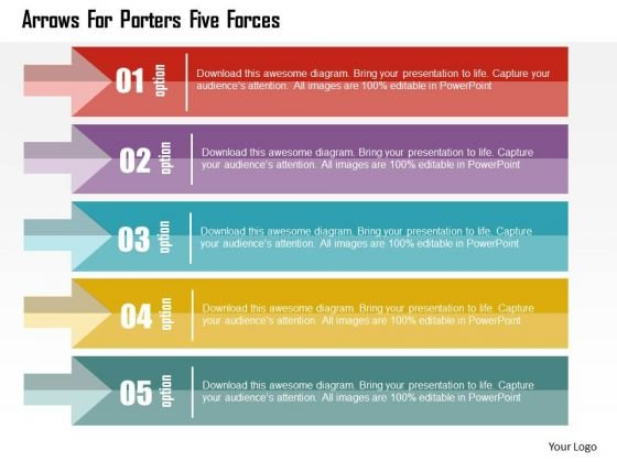 business diagram arrows for porters five forces presentation template powerpoint templates