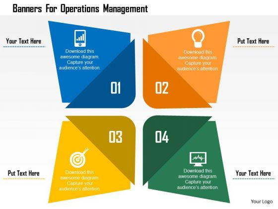 Business Diagram Banners For Operations Management Presentation Template