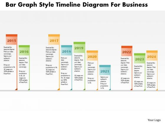 Business Diagram Bar Graph Style Timeline Diagram For Business Presentation Template