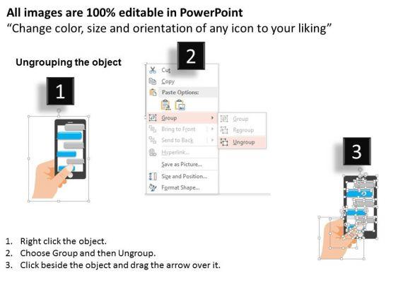 business_diagram_black_smart_phone_with_speech_bubbles_for_communication_presentation_template_2
