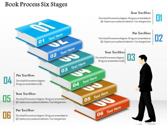 Business Diagram Book Process Six Stages Presentation Template