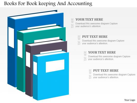 Business Diagram Books For Book Keeping And Accounting Presentation Template