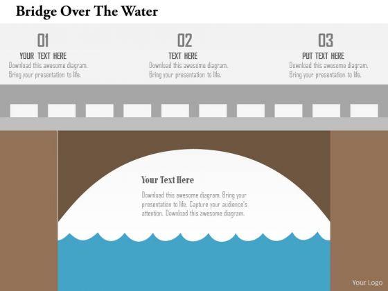 Business Diagram Bridge Over The Water Presentation Template
