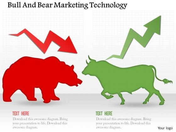 Business Diagram Bull And Bear Marketing Technology Presentation Template
