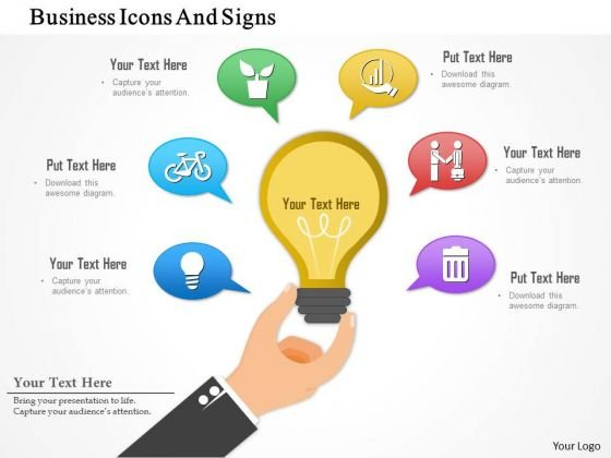 Business Diagram Business Icons And Signs Presentation Template