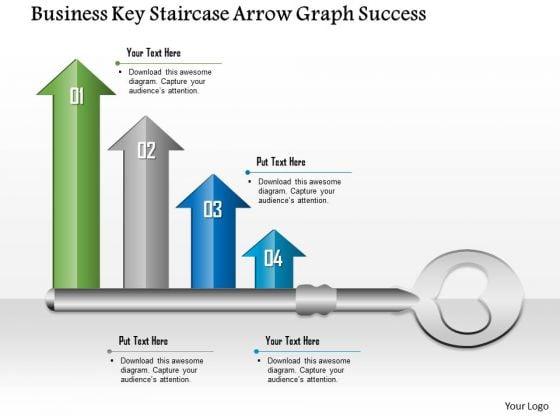Business Diagram Business Key Staircase Arrow Graph Success Presentation Template