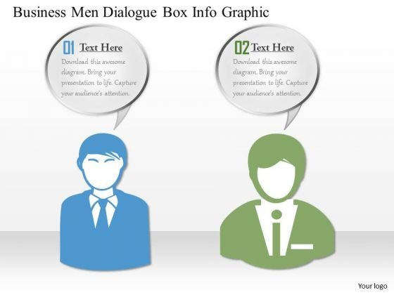 Business Diagram Business Men Dialogue Box Info Graphic Presentation Template