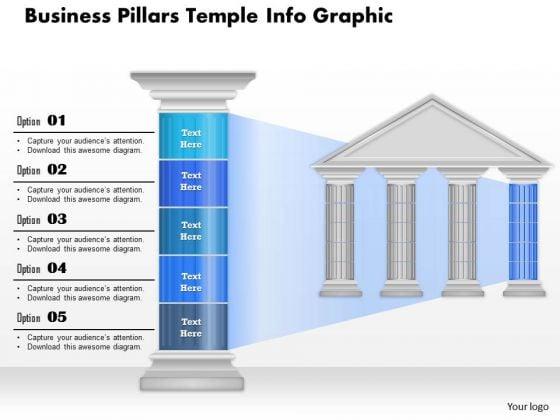 Business Diagram Business Pillars Temple Info Graphic Presentation Template
