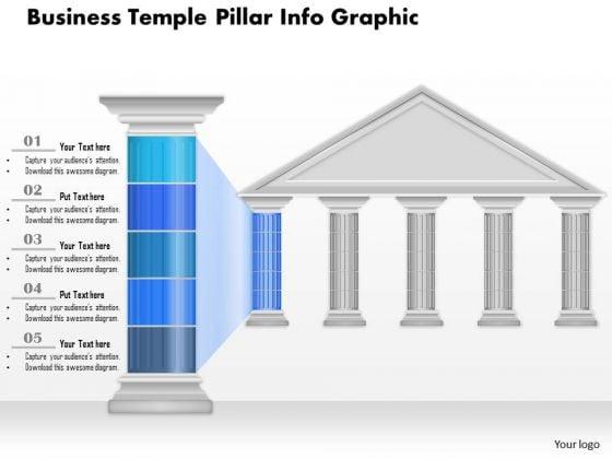 Business Diagram Business Temple Pillar Info Graphic Presentation Template
