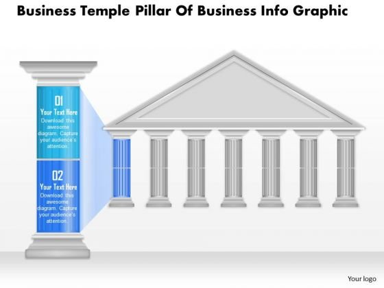 Business Diagram Business Temple Pillar Of Business Info Graphic Presentation Template