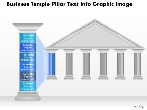 Business Diagram Business Temple Pillar Text Info Graphic Image Presentation Template