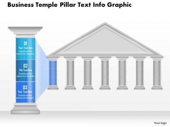 Business Diagram Business Temple Pillar Text Info Graphic Presentation Template