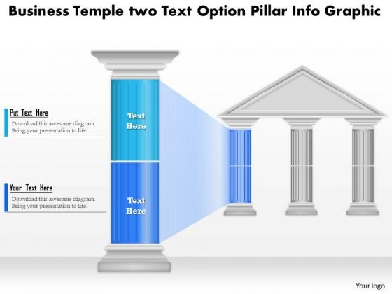 Business Diagram Business Temple Two Text Option Pillar Info Graphic Presentation Template
