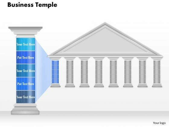Business Diagram Business Temple With Pillar Text Presentation Template