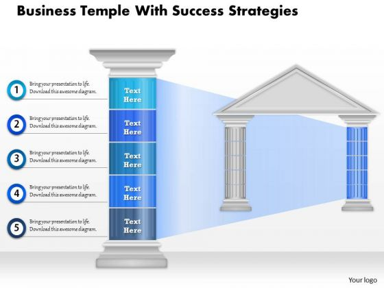 Business Diagram Business Temple With Success Strategies Presentation Template