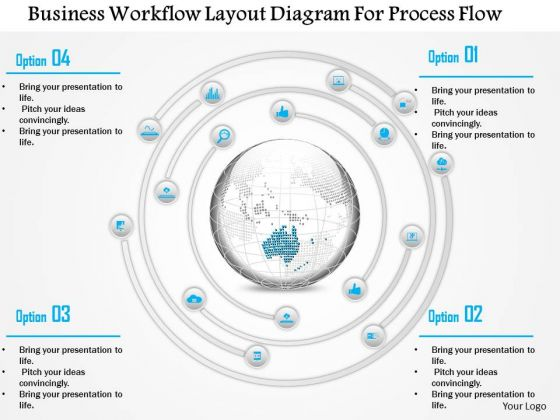 Business Diagram Business Workflow Layout Diagram For Process Flow Presentation Template