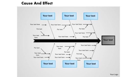 Business Diagram Cause And Effect PowerPoint Ppt Presentation