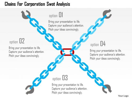 Business Diagram Chains For Corporation Swot Analysis Presentation Template