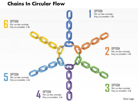 Business Diagram Chains In Circular Flow Presentation Template