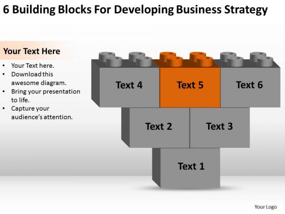 Business Diagram Chart Building Blocks For Developing Strategy Ppt PowerPoint Template