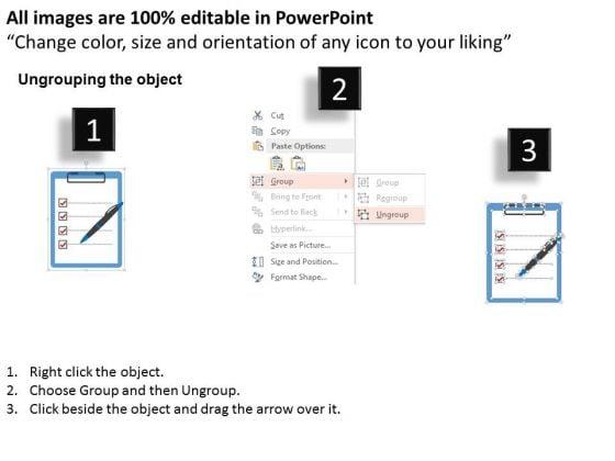 business_diagram_checklist_with_pen_for_performance_measurement_presentation_template_2