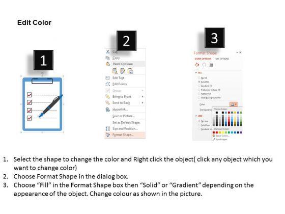 business_diagram_checklist_with_pen_for_performance_measurement_presentation_template_3