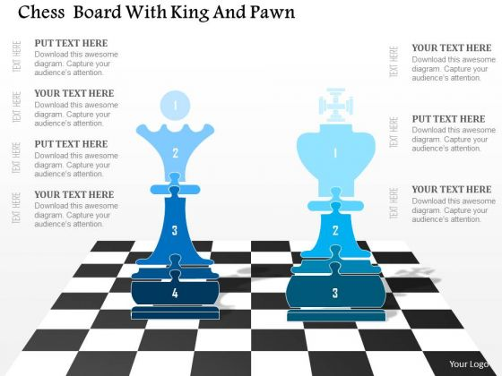 Business Diagram Chess Board With King And Pawn Presentation ...