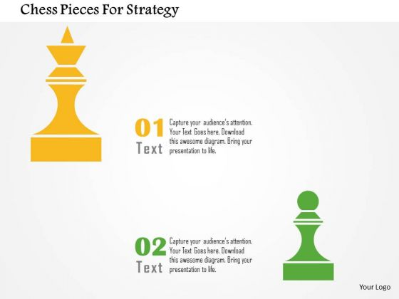 Business Diagram Chess Pieces For Strategy Presentation Template