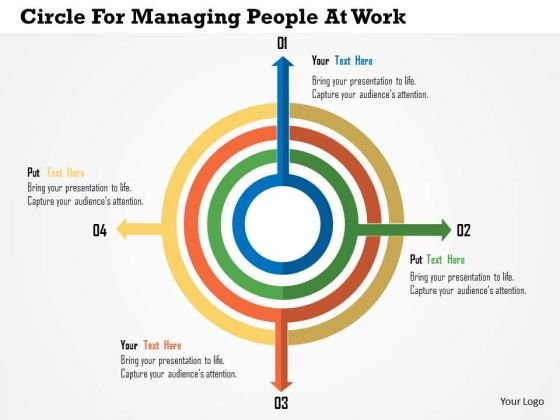Business Diagram Circle For Managing People At Work Presentation Template