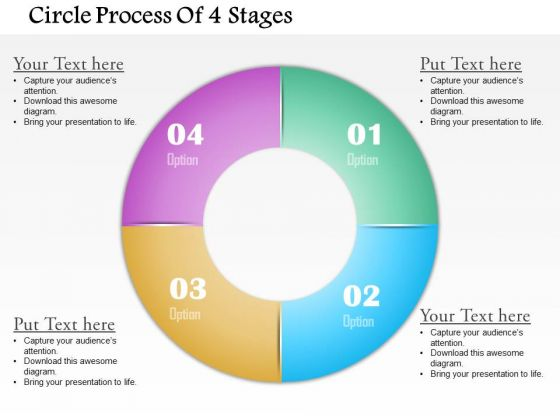 Business Diagram Circle Process Of 4 Stages Presentation Template