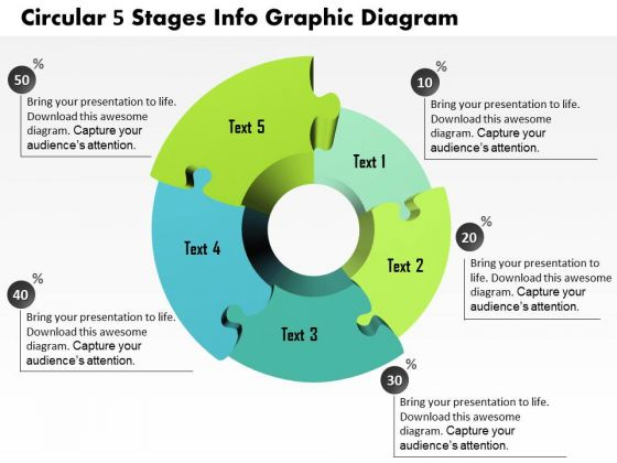 Business Diagram Circular 5 Stages Info Graphic Diagram Presentation Template