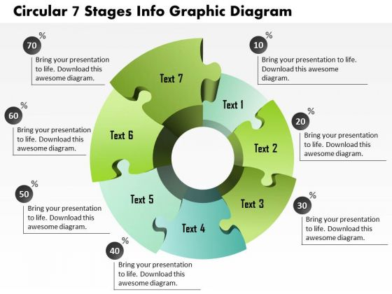 Business Diagram Circular 7 Stages Info Graphic Diagram Presentation Template