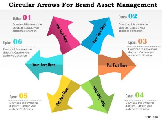 Business Diagram Circular Arrows For Brand Asset Management Presentation Template