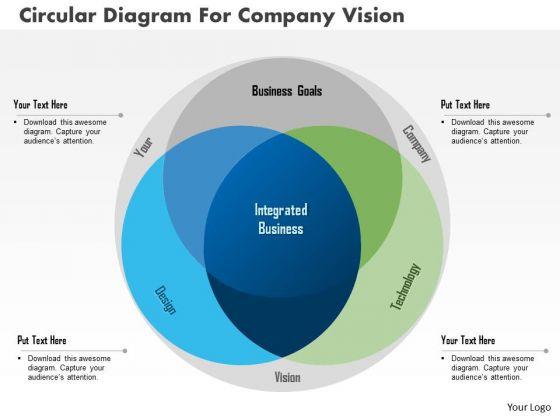Business Diagram Circular Diagram For Company Vision Presentation Template