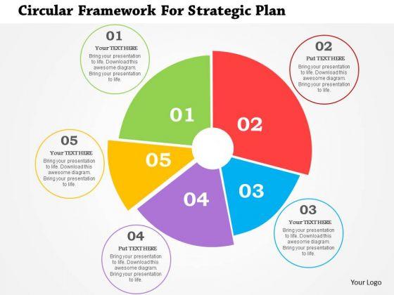 Business Diagram Circular Framework For Strategic Plan Presentation Template