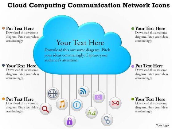 Business Diagram Cloud Computing Communication Network Icons Presentation Template