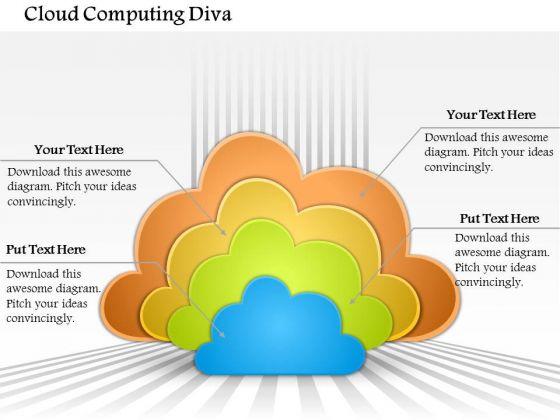 Business Diagram Cloud Computing Diva Presentation Template