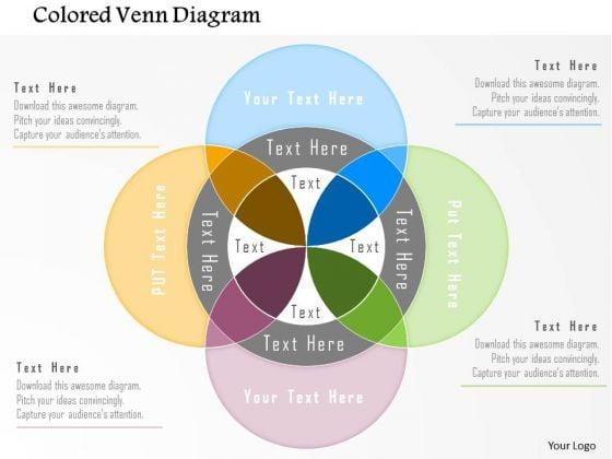 Business Diagram Colored Venn Diagram Presentation Template