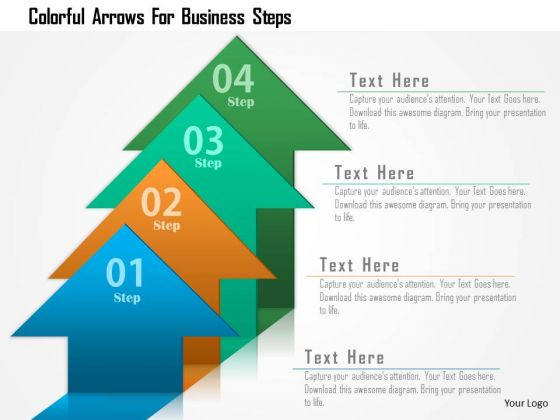 Business Diagram Colorful Arrows For Business Steps Presentation Template