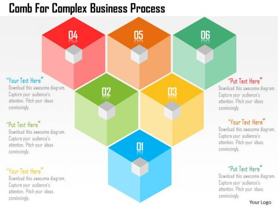 Business Diagram Comb For Complex Business Process Presentation