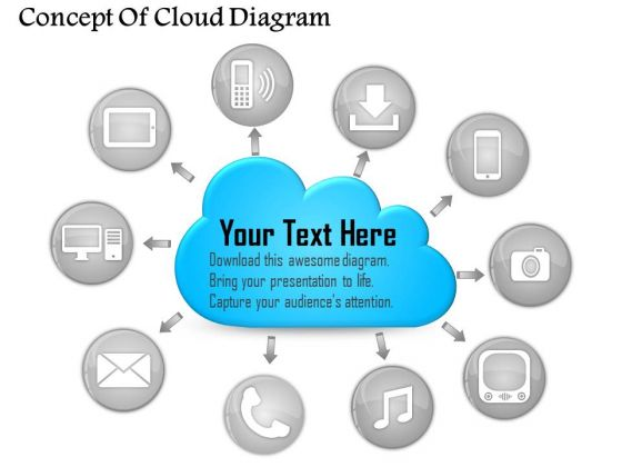 Business Diagram Concept Of Cloud Diagram PowerPoint Ppt Presentation