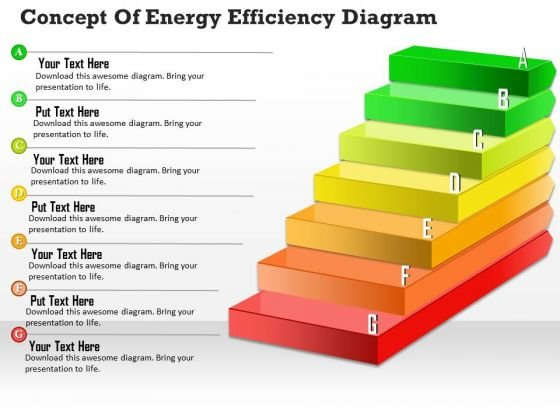 Business Diagram Concept Of Energy Efficiency Diagram PowerPoint Ppt Presentation