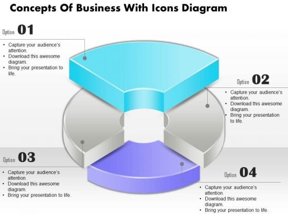 Business Diagram Concepts Of Business With Icons Diagram PowerPoint Ppt Presentation
