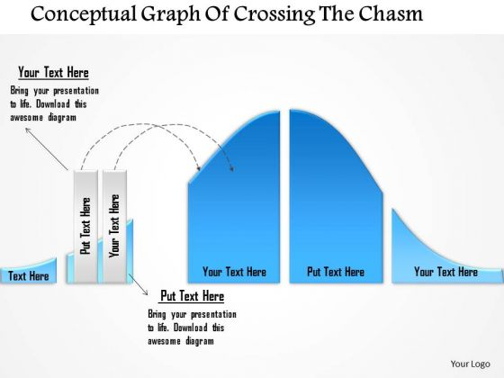 Business Diagram Conceptual Graph Of Crossing The Chasm Presentation Template