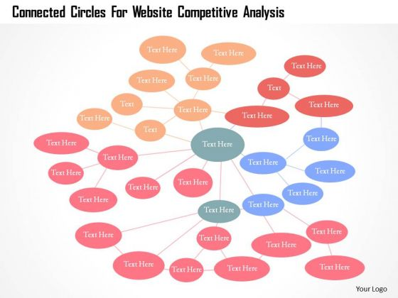Business Diagram Connected Circles For Website Competitive Analysis Presentation Template