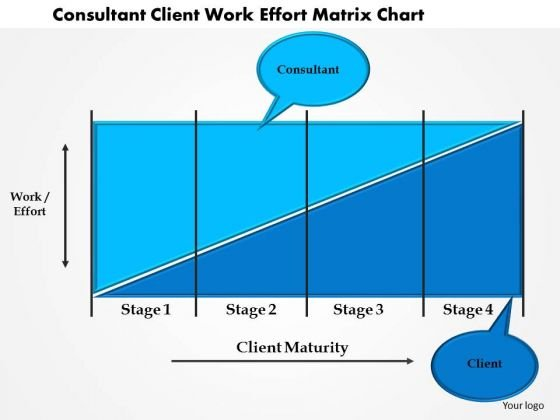 Business Diagram Consultant Client Work Effort Matrix Chart Presentation Template