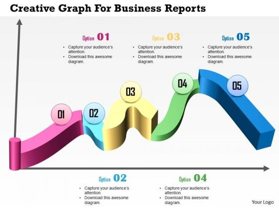 Business Diagram Creative Graph For Business Reports Presentation Template