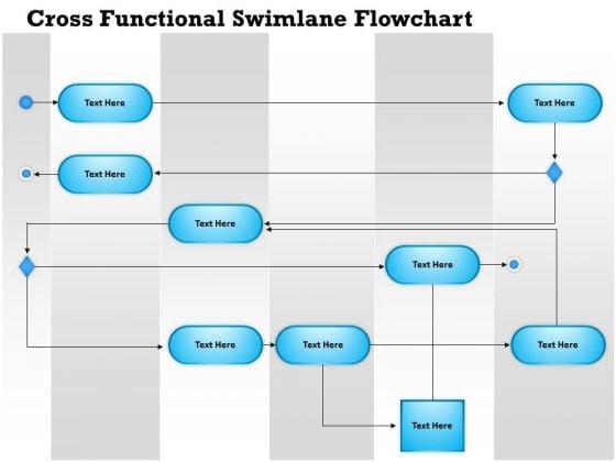 Business Diagram Cross Functional Swimlane Flowchart Presentation Template Powerpoint Templates