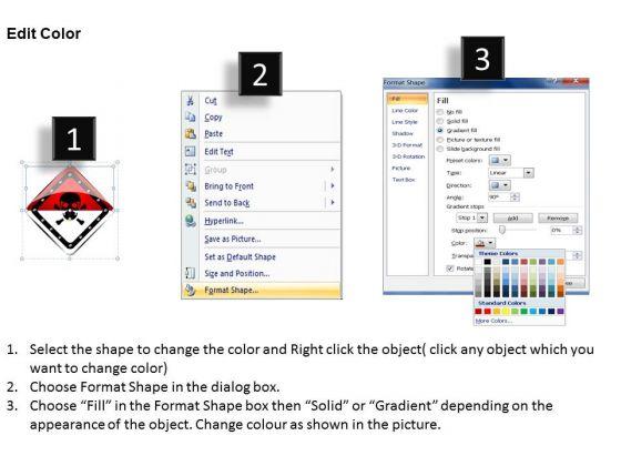 business_diagram_danger_board_for_warning_symbol_presentation_template_3